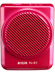 Loudspeaker Voice Amplifier Megaphone for Teachers Tour Guide Support TF USB AUX MP3 FM REC NEWONLINE N91