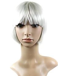 couleur de mélange capless courte perruque synthétique naturel cheveux raides de haute qualité avec plein boum