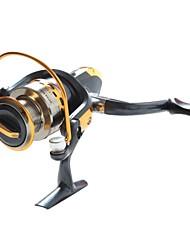 Black  Fishing Reel 8BB YB2000 5.1:1  Spinning Fly Boat Fishing Reels