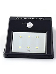 Solar Motion Sensor Light 6 Led PIR Wall Lamp Security Shed Outdoor