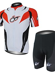 XAOYO Bike/Cycling Clothing Sets/Suits Men's Short Sleeve Quick Dry / Back Pocket Polyester / 100% Polyester RedS / M / L / XL / XXL /