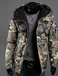 Men's Camouflage Hooded Warm Cotton Coat