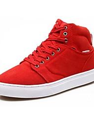 Scarpe da uomo Casual Finta pelle Sneakers alla moda Nero/Marrone/Giallo/Verde/Rosso/Grigio