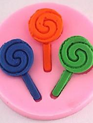 sucette gâteau fondant au chocolat outils silicone moule à cake de décoration, l4.9cm * w4.9cm * h0.8cm