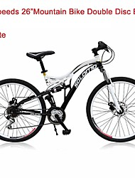 "24 Speeds SHIMANO 26""X17"" SLM™ Disc Brake Mountain Bike 40 Spokes Flat Tire Fork Shock Absorption"