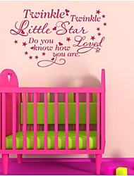 JiuBai® Child Room Star Quote Wall Sticker Wall Decal