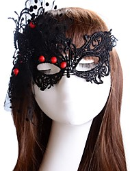 Women's Black Sexy Cut Out Lace Costume Party Mask