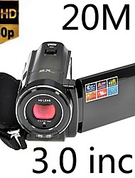 "3.0"" 20MP HD LCD Digital Video Camera Camcorder DV 8x Optical Zoom Black"