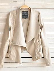 zip fino casaco hem pisou das mulheres (mais cores)