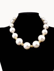 lureme®korean стиль роскошный большой жемчужиной бурить мяч ожерелье