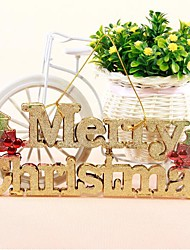 English Letters Card Merry Christmas With Hang Rope Hanging Shop Door Decoration Hanging Tree