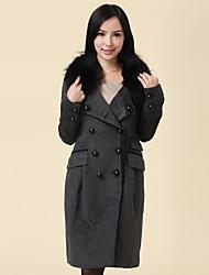 parte superior de la manga larga abrigo largo los towm de las mujeres