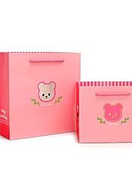 animais sacos de presente padrão rosa