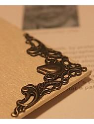 20pcs / set fleur forme métallique articles démodés angle d'album photo couleur bâton de bronze