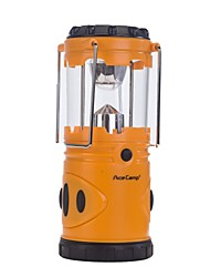 9-LED 36lm Outdoor Camping Lantern Light - Orange (3 x Type-D  Batteries Not Included)