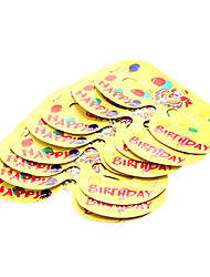 Birthday Party Accessories Costume Accessories Hard Card Paper Classic Theme Non-personalised Yellow