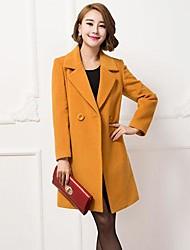 mode de revers de manteau de cachemire élégant trench des femmes (plus de couleurs)