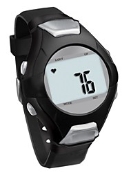 Unisex Digital Heart Rate Watch PU Leather Watch (Assorted Colors)