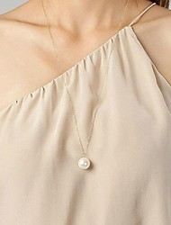 Women's Girls´ Pendant Necklaces Pearl Necklace Imitation Pearl Pearl Pearl Imitation Pearl Alloy Imitation Pearl Adjustable Simple Style