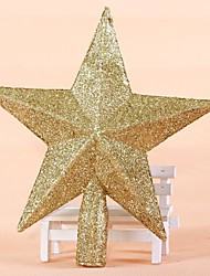 The Tree Top Star Golden Red Three-Dimensional Model(Assorted Color)