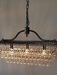 Chandelier ,  Traditional/Classic Electroplated Feature for Crystal Metal Bedroom Dining Room Study Room/Office Hallway