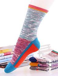 Retro meias de algodão quente de 5pairs mulheres (cor aleatória de colocação)