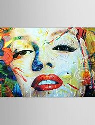Hand Painted Oil Painting People Marilyn Monroe Face with Stretched Frame