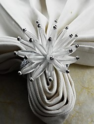 Acrylic Flower Napkin Ring, Acrylic, 4.5CM, Set of 12