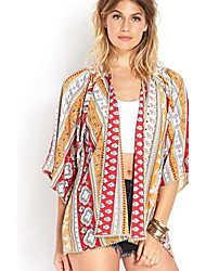 loose blusa floral quimono das mulheres