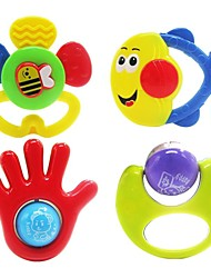 4pcs colorées multi-forme enfants anneau bébé jouets de cloche