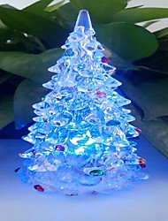 LED Color Change Transparent Tree Shaped Mini Light Christmas Props