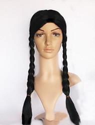 longue tresse noire Halloween perruque