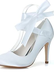 Feminino Wedding Shoes Saltos/Arrendondado Saltos Casamento/Festas & Noite Preto/Azul/Rosa/Marfim/Branco