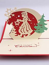 Christmas Girl Dimensional Christmas Cards