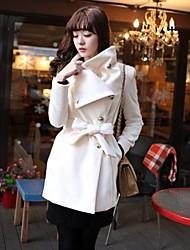 Женское повседневное шерстяное пальто (много цветов)