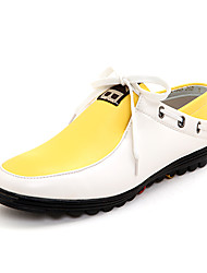 TPU Yellow&White Casual Boots