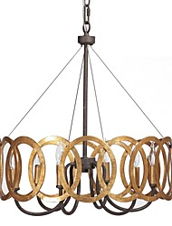 Chandelier ,  Traditional/Classic Gold Feature for Candle Style Metal Bedroom Dining Room Study Room/Office Hallway