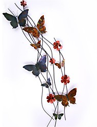 Bellabello-Metal Wall Art Wall Decor, Contemporary Style Multi-Color Butterfly Wrought Iron Wall Decor