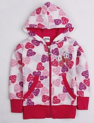 Girl's Pink Jacket & Coat Cotton Winter / Spring / Fall