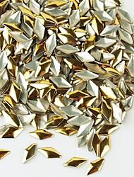 14400pcs punks decorações de arte rebite diamante liga prego -Golden / prata para escolher 7x3mm