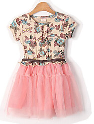 Dguat Children'S Cotton Dress With Belt