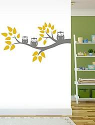 árbol de la historieta jiubai® y la pared del búho etiqueta de la pared calcomanía