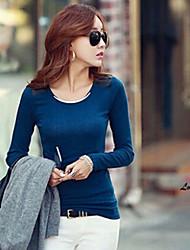Stadt-Frauen des runden Kragen weich Shirt