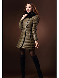Women's Clothing Dazhongjie  Fox Collars Upset Down Jacket