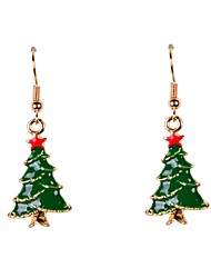 Cute Enamel Christmas Tree Earrings