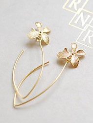 Women's European And American  Fashion  Simple Flower Earring