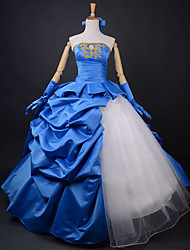 Inspired by Fate/Zero Saber Anime Cosplay Costumes Cosplay Suits / Dresses Patchwork Blue Dress / Headband / Gloves