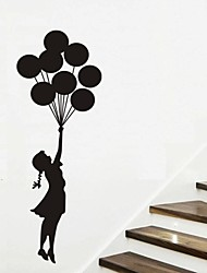 Wall Stickers Wall Decals, Balloon Girl Nursery Home Decor Mural PVC Wall Stickers