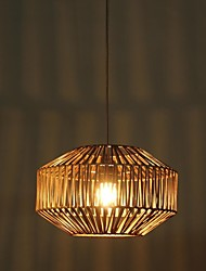 Pendant Lights 1 Light Country Style Painting Rattan