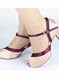 Customizable Women's Dance Shoes Latin Satin Customized Heel Other